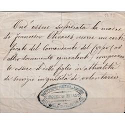 (1867 databile) MILANO...