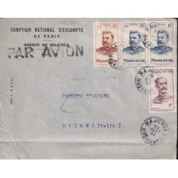 1953 MADAGASCAR PERFIN x...