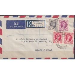 1957 RODESIA RACC. AEREA  x...