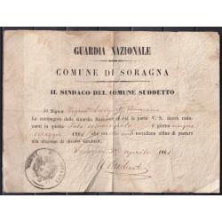 1861 SORAGNA  (PARMA)...