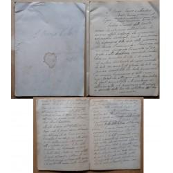 1895 MANOSCRITTO ANONIMO...