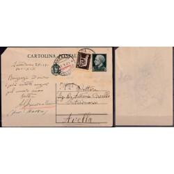 1940 CARTOLINA POSTALE con...