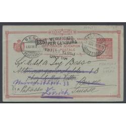 1916 Cartolina 10L. da...