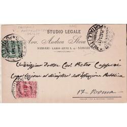 1919 Annullo SASSARI...