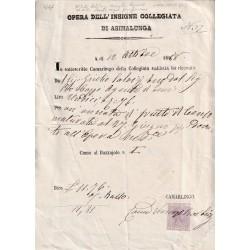 1888 QUIETANZA COLLEGIATA...