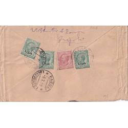 1919 LIBIA 5c. x 3 + REGNO...